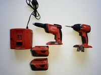 Hilti Cordless Power Tools (Screwdriver,Impact,2×Batteries,Charger)