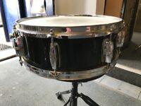 """Sakae 14""""x 5"""" Snare Drum (Black)"""