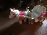 Baby born princess horse cArriage