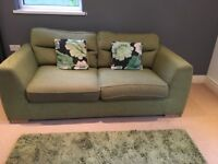 Two Seater Sofa and Rug