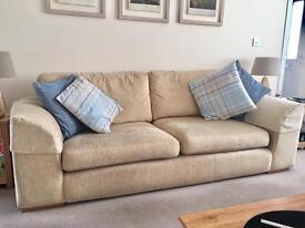 Fabric three seater sofa