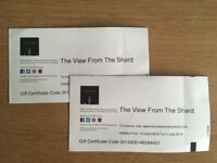 2 Tickets to The View From The Shard
