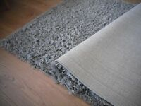 John Lewis shaggy light /slate grey rug/carpet