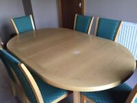 Skovby extending dining table.