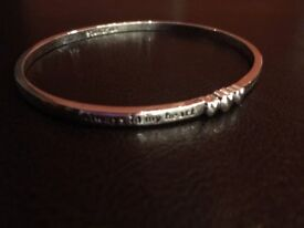 Silver 'Always in my heart' bangle