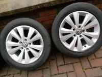 OEM VW Golf Mark 7 Caddy MK7 16 inch alloys with 205/55R16 tyres in Magherafelt £195