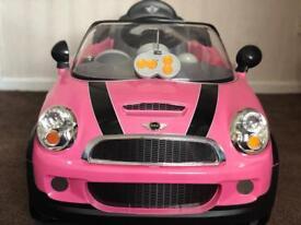 Remote control + Manual pink Mini Cooper
