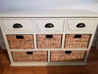 Sideboard with Woven baskets
