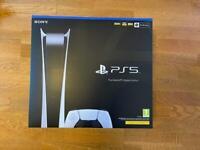 Brand new PlayStation 5 digital edition