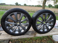 VAUXHALL ASTRA SPORTIVE WHEELS (2) FOR SALE. 17 INCH LOW PROFILES.