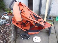 Phil and teds sport double buggy -well used condition
