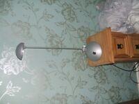 2 X ADJUSTABLE SILVER DESK /BEDSIDE LAMPS