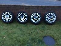 "Ford 17"" Alloys 5 stud were from Mondeo but will fit fiesta, focus, connect van etc"