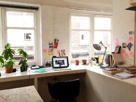 Rare Opportunity - Fantastic spacious deskspace available in creative Shoreditch studio