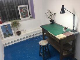 Newly Built Workshop Studios/ Artist/ maker/ Desk/ Stoke Newington/ 24 hr access/ £350pm all in