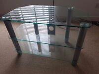 Glass TV stand. Up to 70inch.