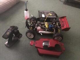 1/8th scale nitro rc buggy.