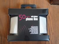 Wireless phone line extender 50m. Home phone over mains