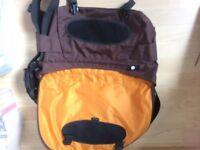 Crumpler Messenger Bag - as new - dark brown with orange lining