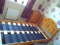 Erskine Pine Single Bed with Immaculate Mattress and matching 4 Drawer Chest