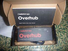 Elektron Overhub 7 port USB hub new boxed with lead and manual
