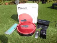 BOXED WITH INSTRUCTIONS Moneual MR7700 Robot Vacuum Cleaner, Red
