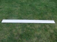 Wooden mounted pelmet curtain track 203.5cm * 4cm * 2cm
