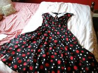 Hell Bunny 50s rockabilly style dress ideal for fancy dress, size medium (12), never been worn