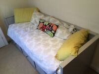 IKEA HEMNES DAY BED (GREY) + 2 MATTRESSES INCLUDED