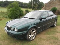 jaguar x type 2 litre green four door saloon