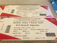 I have 4 tickets for boxing night 28.10.2017-Antony Joshua