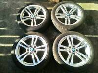 Bmw 18 inch 441m alloys & run flat tyres. Fit 3 4 5 series. Cost 2k