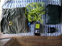 Airbed, Mobile mains kit, Mat, Electrical pump