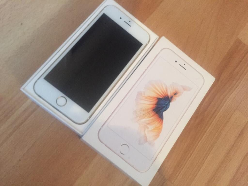 Iphone 6S Gold 16GB (Boxed) free £25 gift card