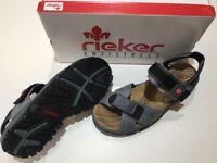 Reiker Sandal Leather Size 6 Blue/Black = Brand New