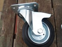 Castor wheels heavy duty all swivel some have brakes 160mm or 200mm