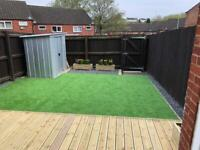 Garden landscaping and fencing