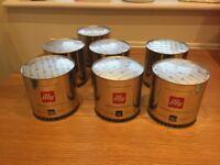 UNOPENED 7 containers of 21 Illy Iperespresso Espresso capsules brought new around £10 per pot)
