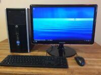 "GAMING PC SET HP intel i5 3.10ghz / 8GB / GeForce GT530 2GB + 22"" SAMSUNG Monitor Desktop"