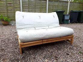 FUTON COMPANY LINEAR 2-seater settee/double sofa bed