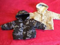 2 baby boys jackets 3-6 months