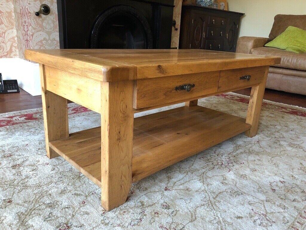 Rustic Solid Oak Coffee Table In Wilrough Kent Gumtree