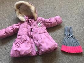 Coat 6-9 months, hat 6-12 months