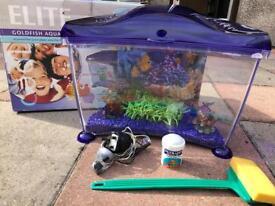 Elite goldfish Aquarium Purple
