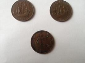 Old half penny's