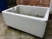 Vintage pot sink garden planter