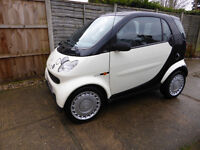 Smart Pure Softip City Coupe Semi-Automatic, 2002,MOT, 89k miles, fun and very cheap to run, £1195