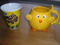 Two colourful mugs, ideal for Easter. only £3.