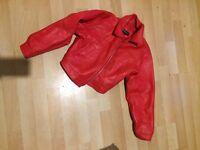 designer 10dency bomber jacket immiataion leather size 8