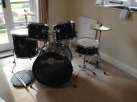 gear4music drum kit with 4 rock solid pads